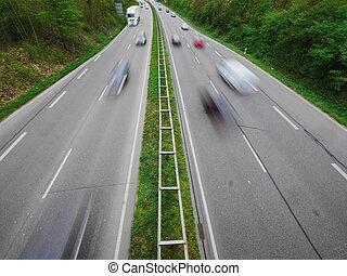 German Autobahn blur - traffic on a German Highway