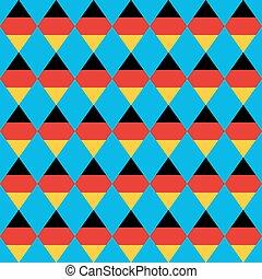 German beer festival vector rhombus background. Oktoberfest  seamless pattern