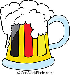 german beer in the mug