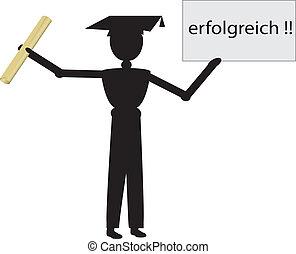 german boy graduate