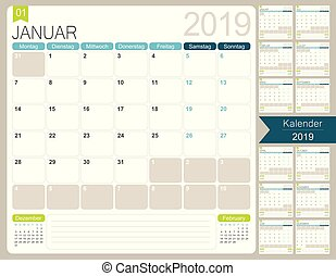 Germany Calendar Of 2019 Calendar Event Personal Organizer