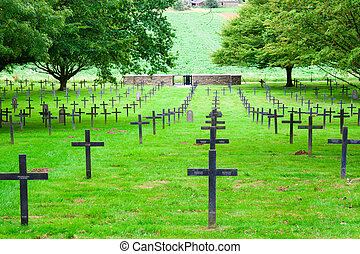 German cemetery of world war one in France