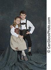 German Children - Model Release #270 German chrildren ages 8...