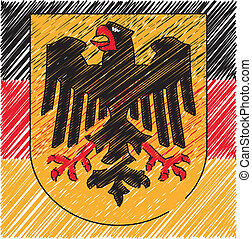 German coat of arms, vector illustration