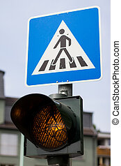 german crosswalk sign