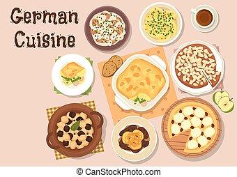 German cuisine traditional dinner icon - German cuisine icon...