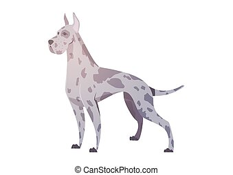 German dog in the style of cartoon. The illustration can be...