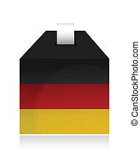 german election box. illustration design
