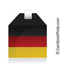 german election box. illustration design