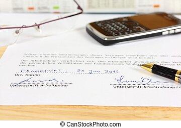 German employment contract