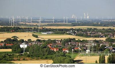 German Energy Landscape Timelapse - Timelapse of flat west...