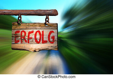 german), erfolg, motivation, signe, (success, locution