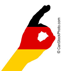 German finger signal