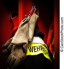 German Firefighter fire proof jacket