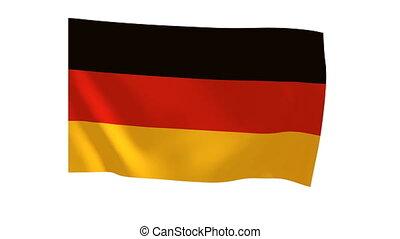 German flag 017 - The German flag animates