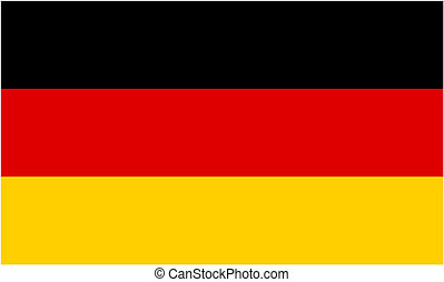 German flag and language icon - isolated vector illustration