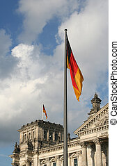 German flag at Reichstag