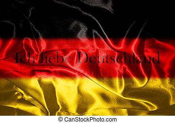 German flag blowing in the wind