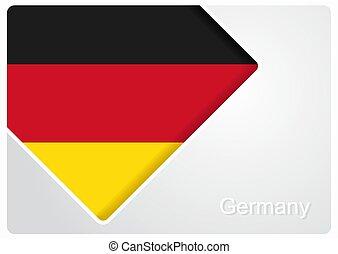 German flag design background. Vector illustration.