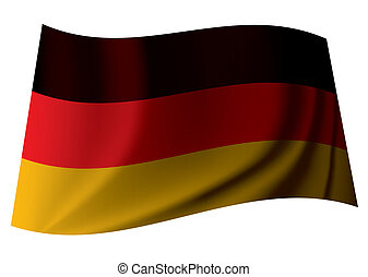 german flag - german banner flag from the nation of germany...