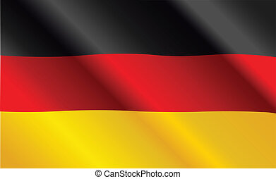 German flag - Design of German Flag Flying in the Wind