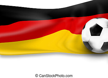 german flag football soccer 3D ball background