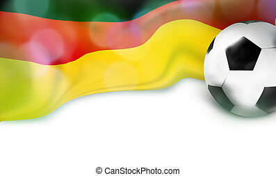 german flag football soccer 3D ball bokeh design
