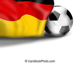 german flag football soccer 3D ball