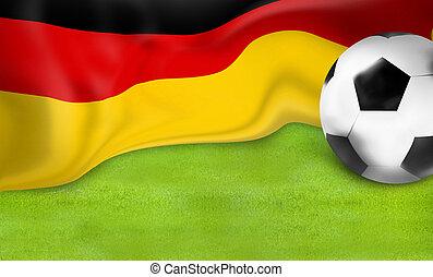 german flag football soccer 3D ball background