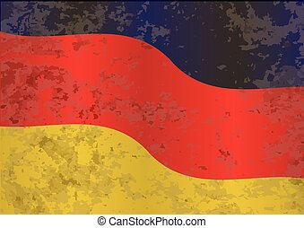 German Flag Grunge