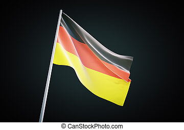 German flag on black background