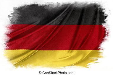 German flag on plain background