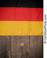 German flag on wood