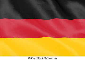 German flag rippling