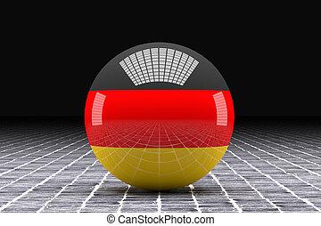 German flag sphere