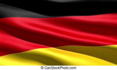 German flag, 3d animation. perfect seamless loop