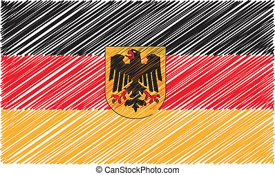 German flag, vector illustration