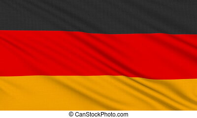 German flag, with real structure of a fabric