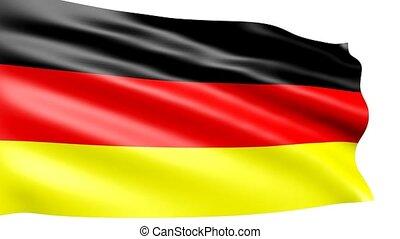 German flag waving, animation