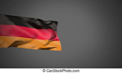 German flag waving in the wind