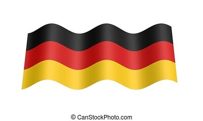 German flag wavy, 3d animation loop
