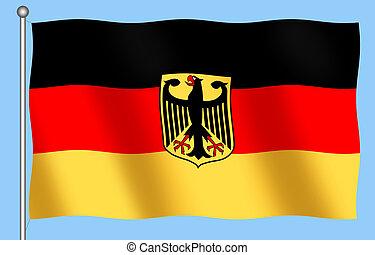 German Flag with Emblem