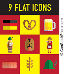 german flat icon