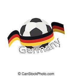 German football team icon, cartoon style