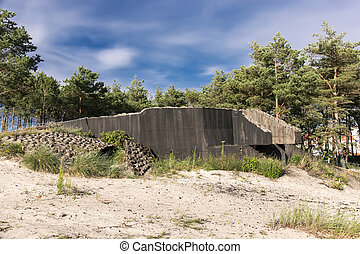 German fortifications from the time of II World War. Polish...