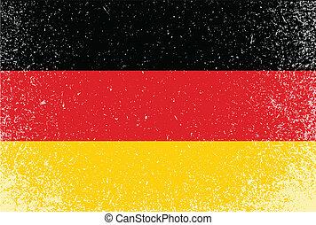german grunge flag banner illustration