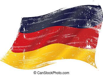 German grunge flag