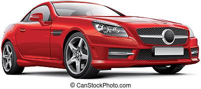 German hardtop convertible - High quality illustration of...