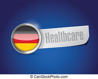 german healthcare sign illustration design