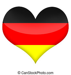 German Heart - Heart styled flag of Germany illustration...